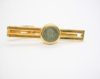 Necktie Bar Tie Clip Genuine Native American Indian Chief Nickel 5 cent USA Vintage Coin Handmade Formal Wear Wedding Gift Men Jewelry