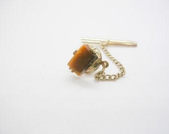 Tiger/'s Eye Tie Pin Tack Vintage Nice Design