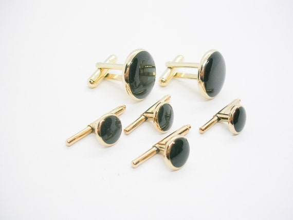 Silver Tone Vintage Cufflinks Vintage Cuff Links Formal Jewelry Modernist Retro 1970s 70s Cuff Links