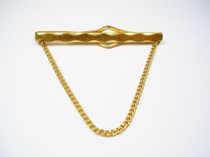 Vintage Mid Century ANSON Tie Chain simple design Formal Accessory Wedding Jewelry