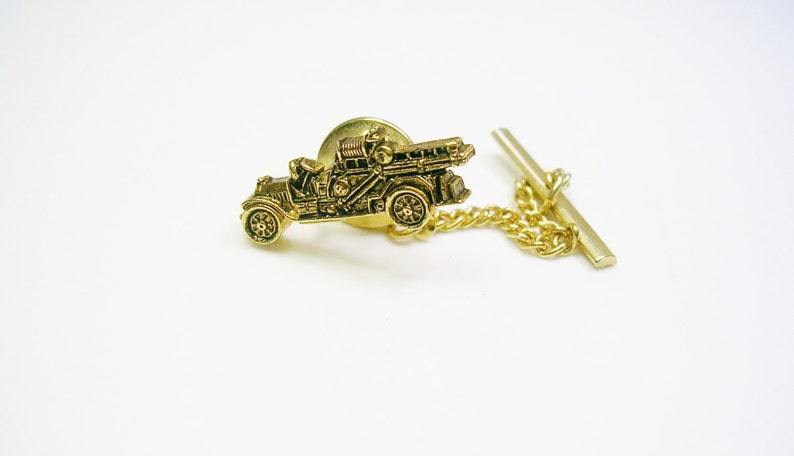 Tie Tack Designer Tie Pin with chain Sarah Coventry Tie Tac Formal Wear  OLDTIMER CAR