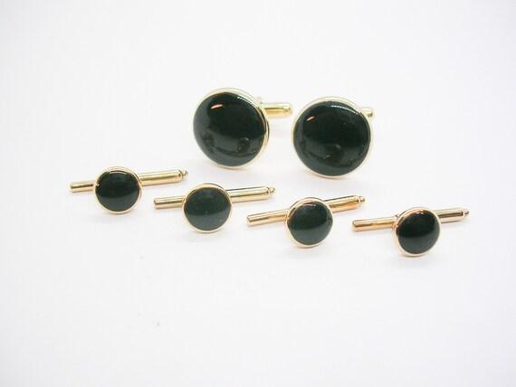 vintage retro shirt accessories mirror shirt studs mirror cuff links black mirror vintage set cuff linksshirt studs swank gold black