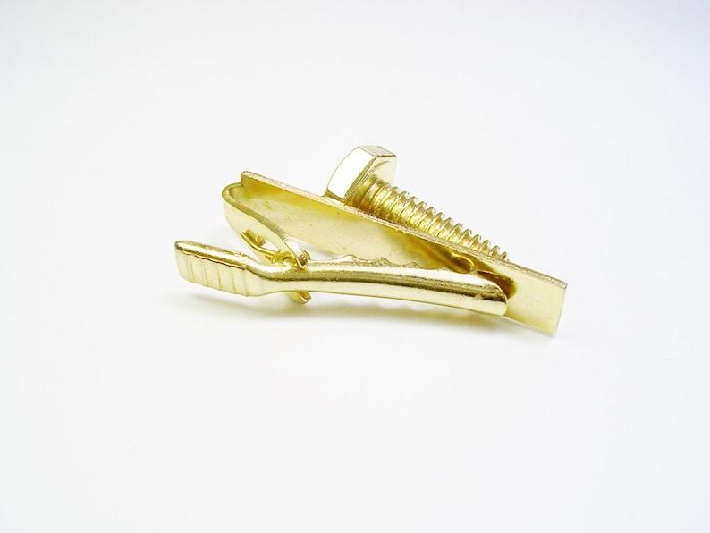 Vintage Tie Clip Screw Tie Bar Necktie Jewelry Men Accessory Formal Wear Tie Clasp Groom Gift