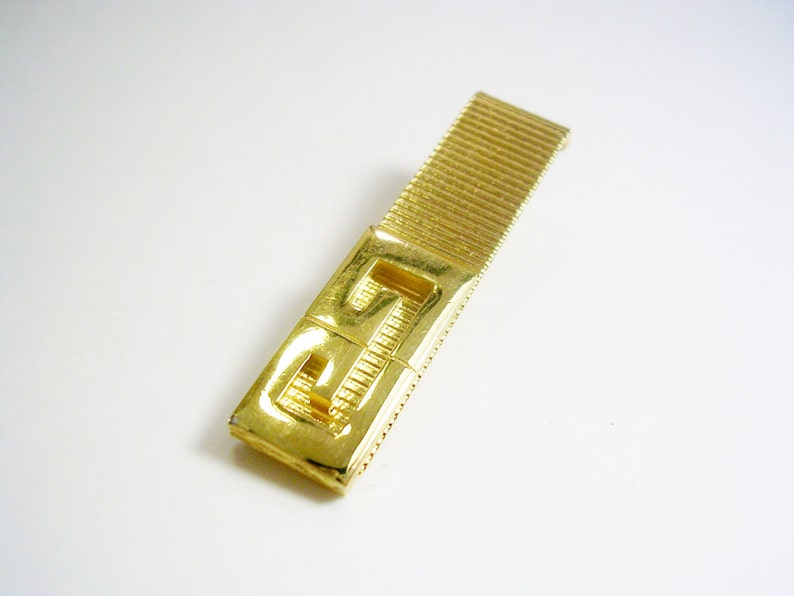 VINTAGE Initial Letter Gs Tie Clasp Clip Wedding Jewelry Formal Wear Man/'s Gift