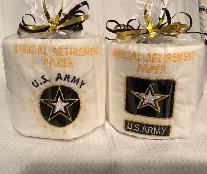 Military retirement toilet paper