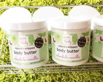 Shea Butter, Calendula, Vanilla, Whipped Shea Butter, Body Butter, Natural Lotion, Shea Lotion, Paraben Free, Vegan, Gift for Her