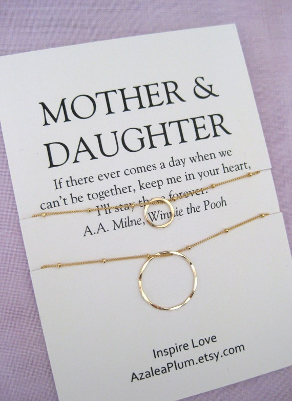 MOTHER Daughter Necklace Mom Gifts