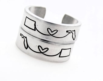 Personalized Gift Long Distance Long Distance Gift For Girlfriend Sister Long Distance Friendship Ring Going Away Gift 2 States