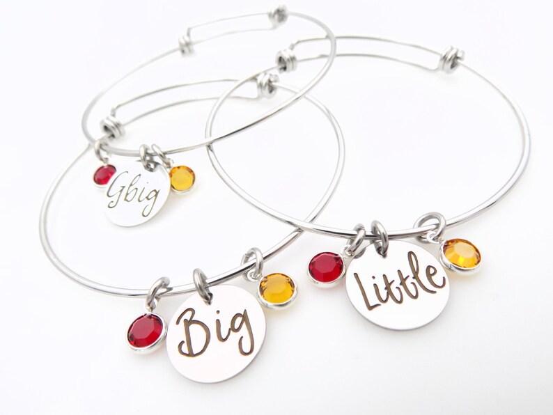 Sorority Big Little bracelets Rush Week Pledging gift laser image 0