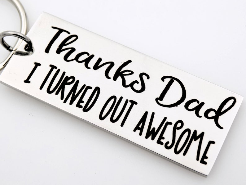 Father's Day Keychain makes a great gift for Mom or Dad image 0