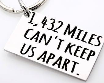 Long distance gift for boyfriend or girlfriend custom with your miles long distance boyfriend or girlfriend couples gift for her or him