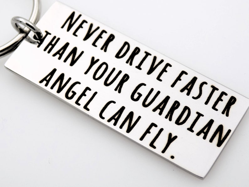 New driver custom keychain gift.  Never drive faster than your image 0