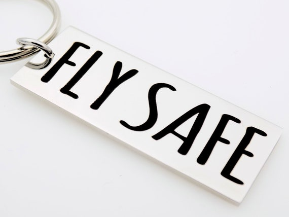 Keyring CREW in WHITE with GOLD Letters for Pilot Flight Attendant baggage tag