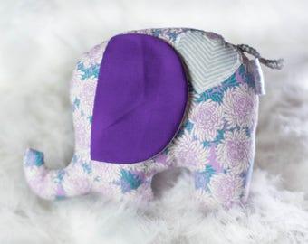 Celeste the Elephant // READY TO SHIP // stuffed elephant plushie, plush elephant, elephant softie, stuffed animal elephant