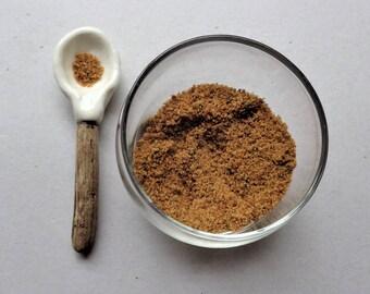 "Ceramic spoon with a driftwood handle, ""caveman"" rustic nautical kitchen table home decor, sugar salt food serving utensils, housewarming"