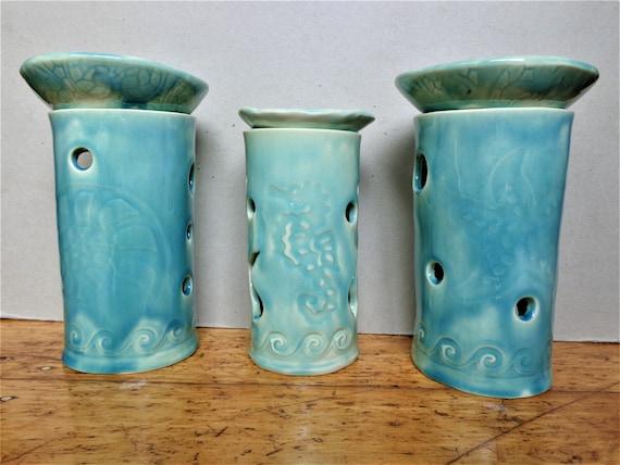 luminary Handmade ceramic lantern oil warmer oil diffuser
