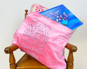 Reading Pillow Cover - I Read Past my Bedtime Reading Pillow - Book Pocket Pillow