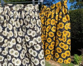 Sunflower Half Apron - Gathered Skirt Farm Apron