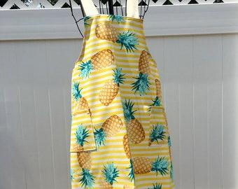 Pineapple Tropical Apron - Cross Strap Apron