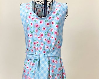 Floral All Day Apron - Cover Up Apron - Retro Harriet Apron