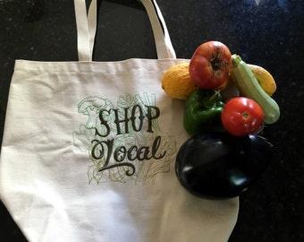 Shop Local Farmers Market Bag - Sturdy Tote Bag