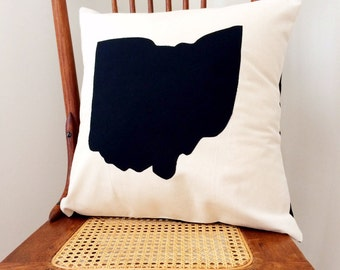 Ohio Pillow - State of Ohio Pillow Cover