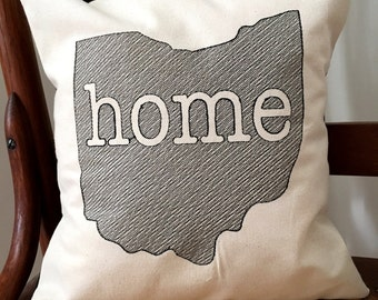 Ohio Home Pillow Cover - State of Ohio Pillow Cover