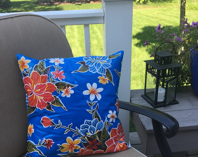 Featured listing image: Oilcloth Pillow Cover - Indoor Outdoor Pillow
