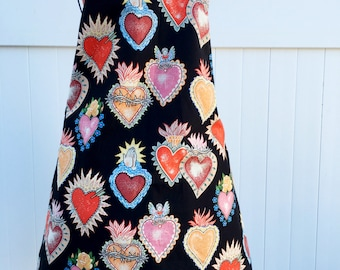 Folklorico Heart Apron - Alexander Henry Valentine Fabric Apron