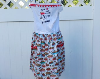 Pie Lovers Apron - Homemade Pies Apron - Pie Lover's Full Skirt Apron