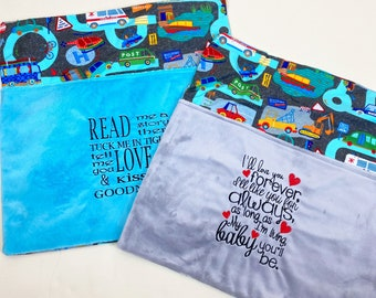 Vehicles Reading Pillow Cover - Reading Pillow - Read Me a Story Book Pocket Pillow