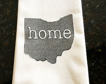 Ohio Home Tea Towel - State of Ohio Towel