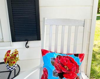 Oilcloth Pillow Cover - Outdoor Pillow Patio Pillow