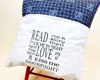 Avengers Reading Pillow Cover - Reading Pillow - Read Me a Story Book Pocket Pillow