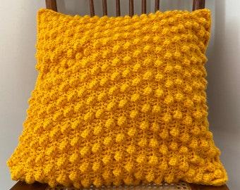 Crochet Bobble Stitch Pillow - Bobble Stitch Pillow