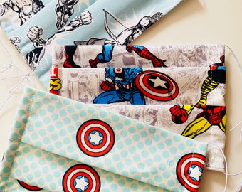 Marvel Child Pleated Cotton Face Mask