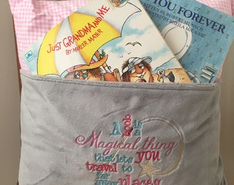 Reading Pillow - A Book is a Magical Thing Reading Pillow - Book Pocket Pillow