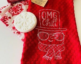 Chill Terry Towel - OMG Chill Embroidered Terry Towel