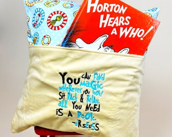 Reading Pillow Cover - Reading Pillow - Read Me a Story Book Pocket Pillow