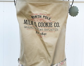 North Pole Baking Apron - Christmas Embroidered Apron - Christmas Cookie Apron