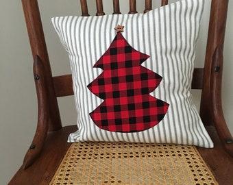Buffalo Check Christmas Pillow Cover - Ticking Pillow