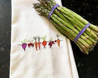 Gardener's Tea Towel - Vegetable Tea Towel