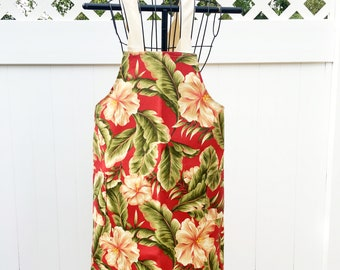 Fall Floral Cross Strap Apron - Functional Apron