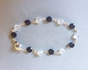 Moonstone and Spinel Bracelet