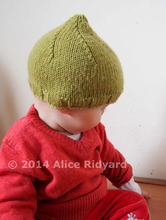 Gumnut Baby Pixie Hat Pattern Pdf Knit Pattern Easy Etsy