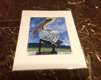 8x10 print key west pelican