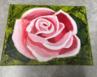 Key West Rose Original Painting On 9 x 12 Canvas