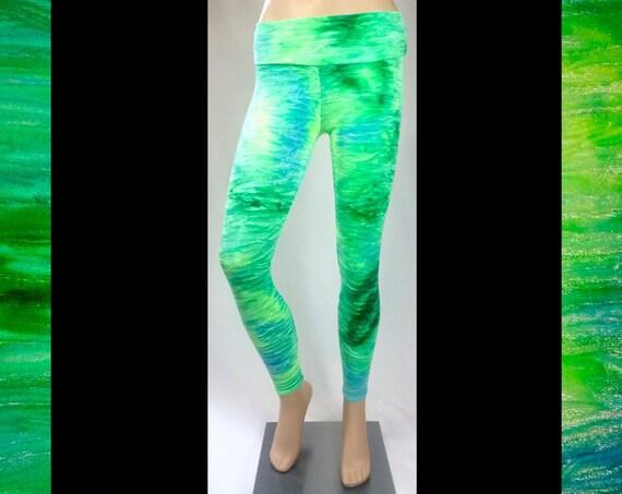 Green Unicorn Velvet Leggings