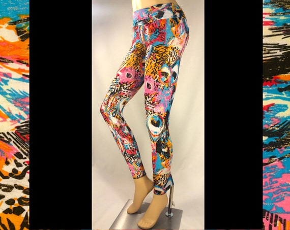 CLEARANCE **Psychedelic Jungle Party Leggings**