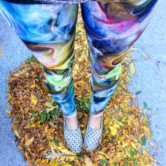 Up in Smoke Spandex Yoga Festival Rave Workout Leggings